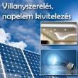 Villanyszerelő, napelem kivitelező