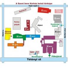 Szent Imre Kórház: belső térkép