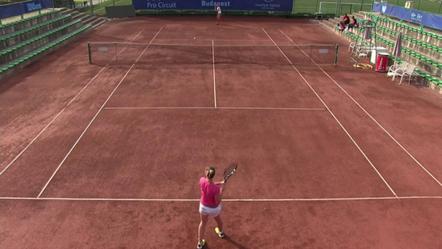 Pár éve így festett egy nemzetközi mérkőzés, fotó: ITF