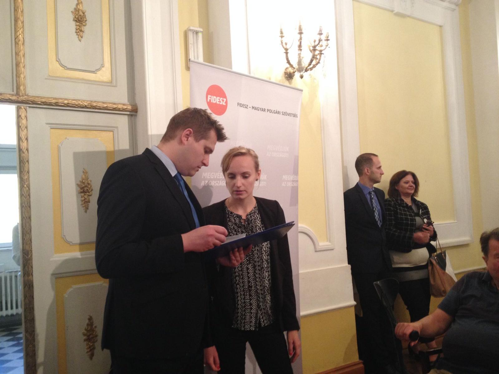 Szabó László az újbudai Fidesz tagja, az önkormányzat kabinetvezető-helyettese (fotó: 444.hu)