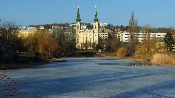 A Feneketlen tó télen, fotó: MTVA, Jászai Csaba