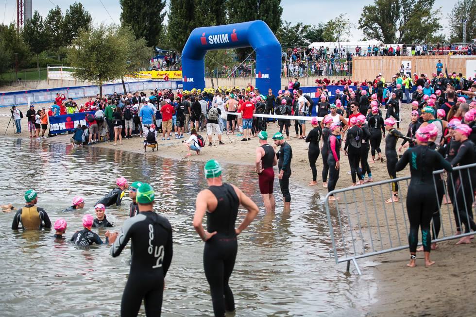 Az Ironman Budapest 70.3 úszói