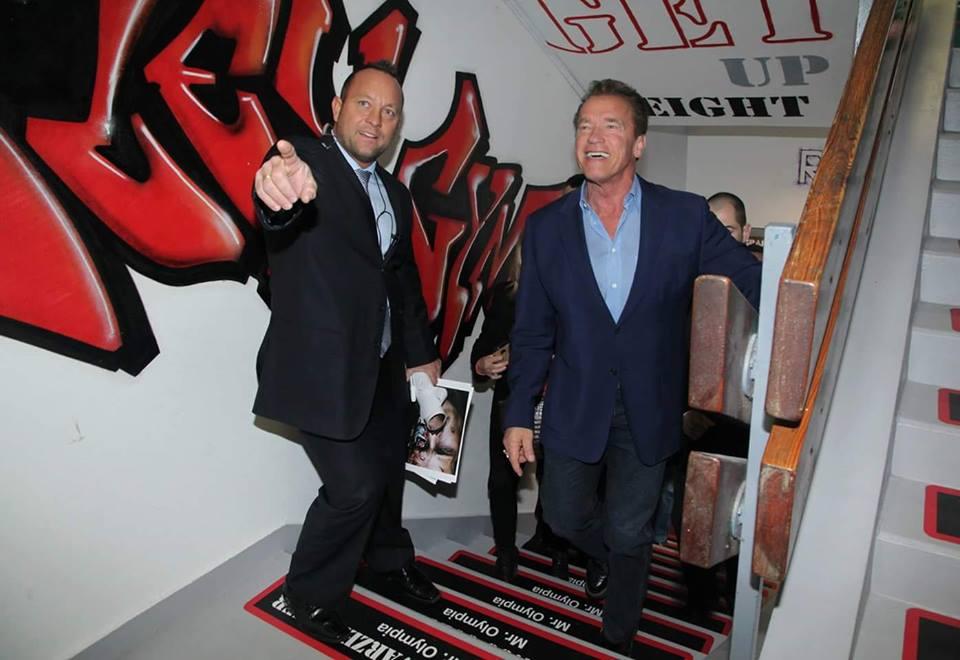 Schwarzenegger a Márvány utcai Flex Gymben